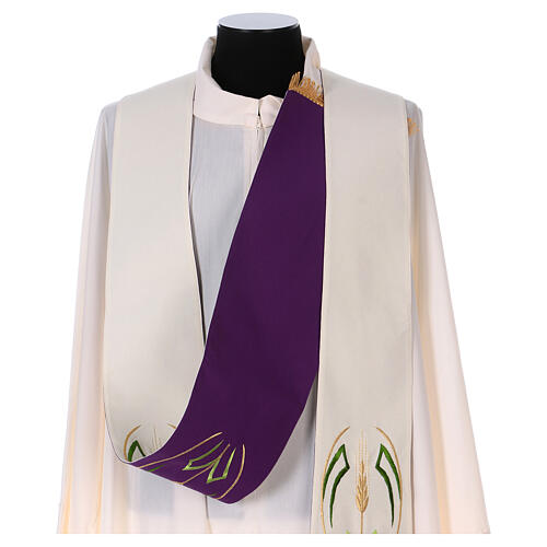 Reversible stole with wheat spike, 100% polyester 5