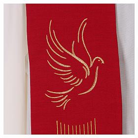 Étole rouge Saint Esprit 100% polyester s2