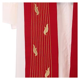 Étole rouge Saint Esprit 100% polyester s3