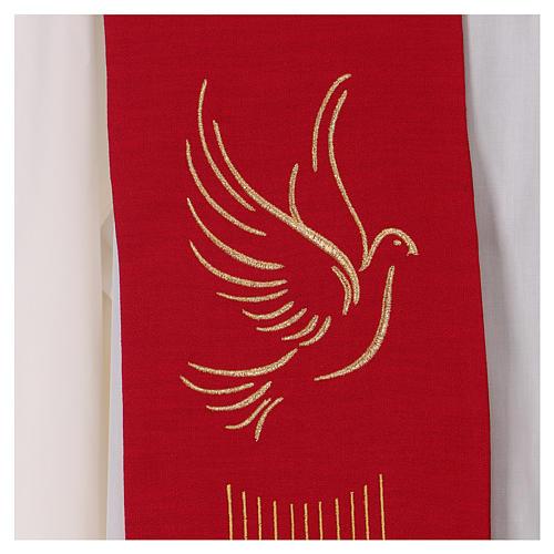 Étole rouge Saint Esprit 100% polyester 2