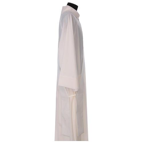 Étole diaconale ivoire croix dorée en relief 80% polyester 20% laine 3