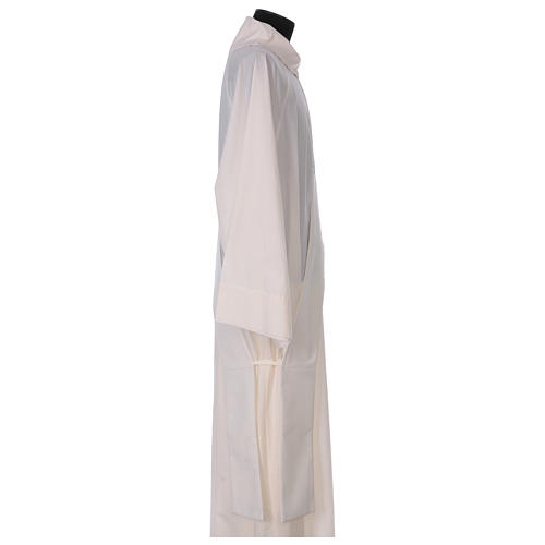 Estola diaconal marfil símbolo mariano con corona 80% poliéster 20% lana 3