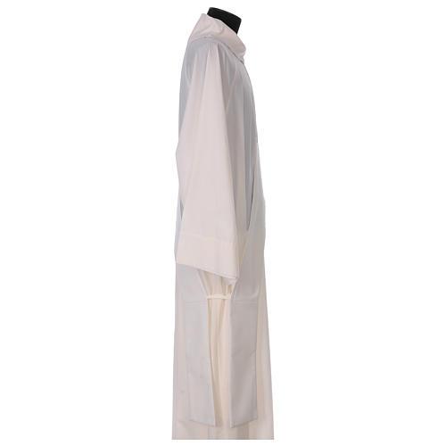 Étole diaconale ivoire symbole marial avec couronne 80% polyester 20% laine 3