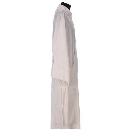 Ivory deacon stole Marian symbol with crown 80% polyester 20% wool 3