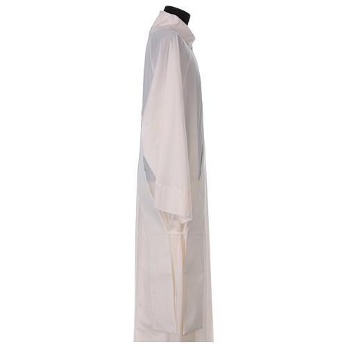 Étole diaconale laine polyester ivoire sacré-coeur avec épis et grappes 3