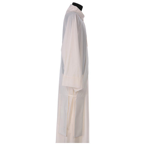 Diaconal stole, ivory colour with IHS decoration in relief 80% polyester 20% wool 3