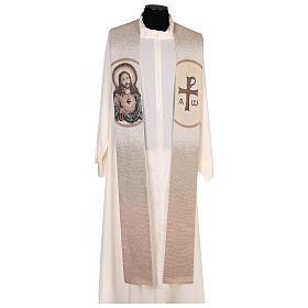 Estola Sagrado Corazón de Jesús marfil s1