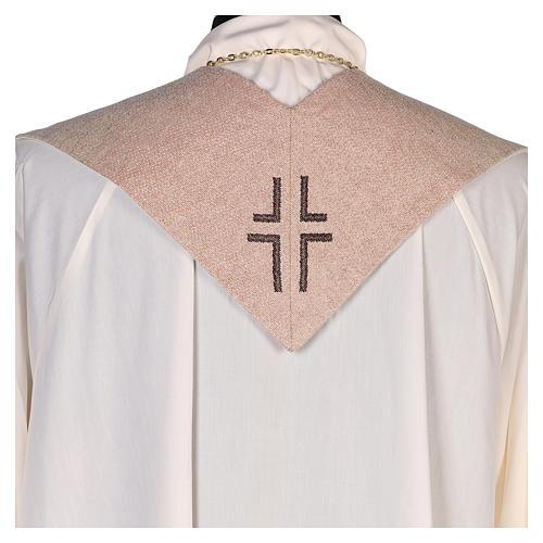 Stola Sacro Cuore di Gesù avorio  3