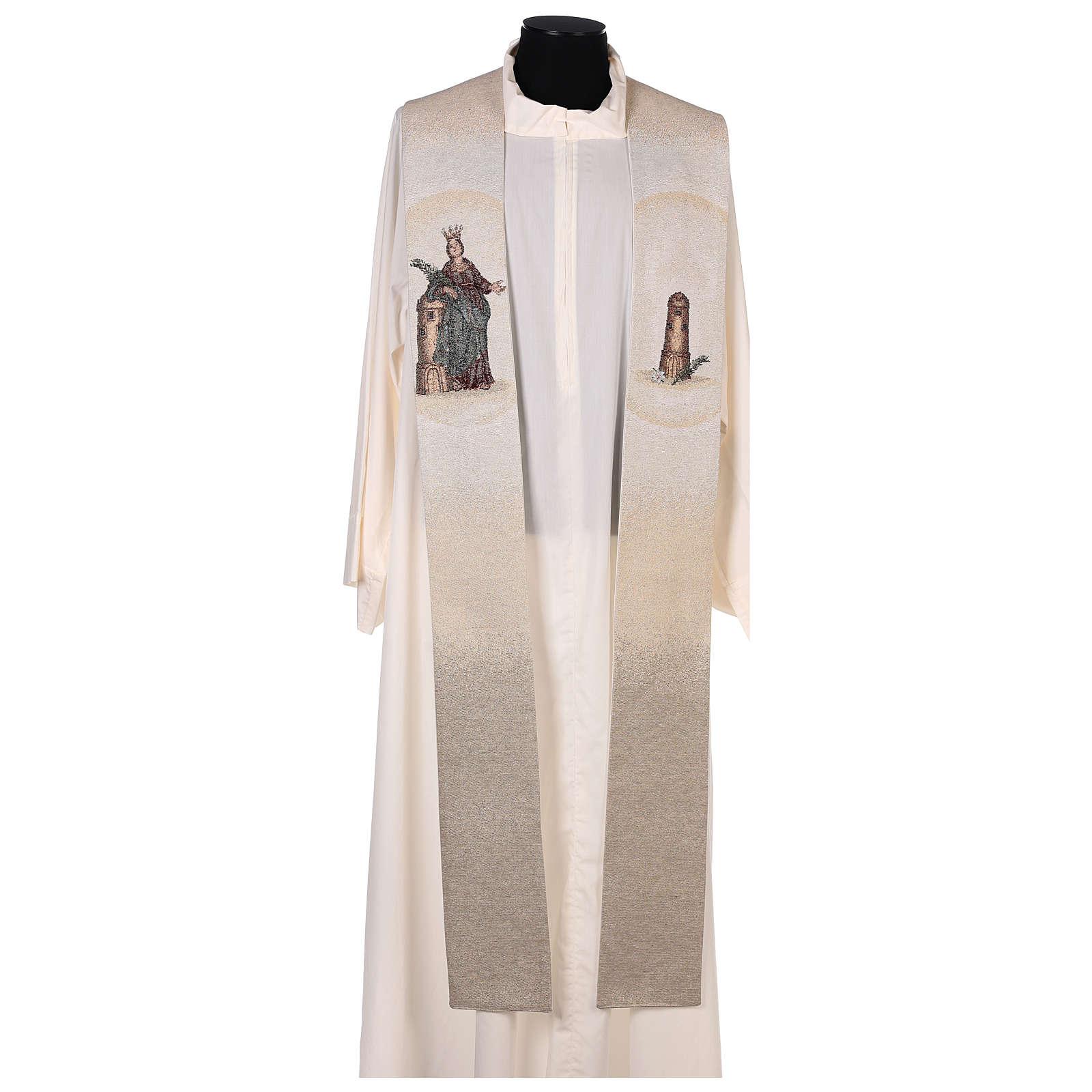 Étole Sainte Barbe posée à la tour couleur ivoire 4