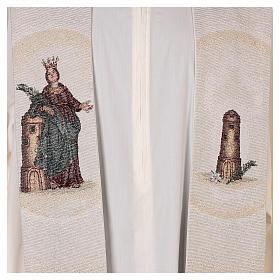 Étole Sainte Barbe posée à la tour couleur ivoire s2