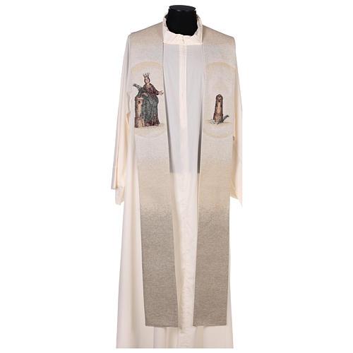 Étole Sainte Barbe posée à la tour couleur ivoire 1