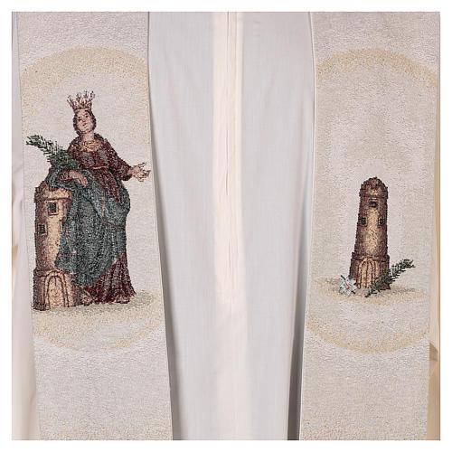 Étole Sainte Barbe posée à la tour couleur ivoire 2