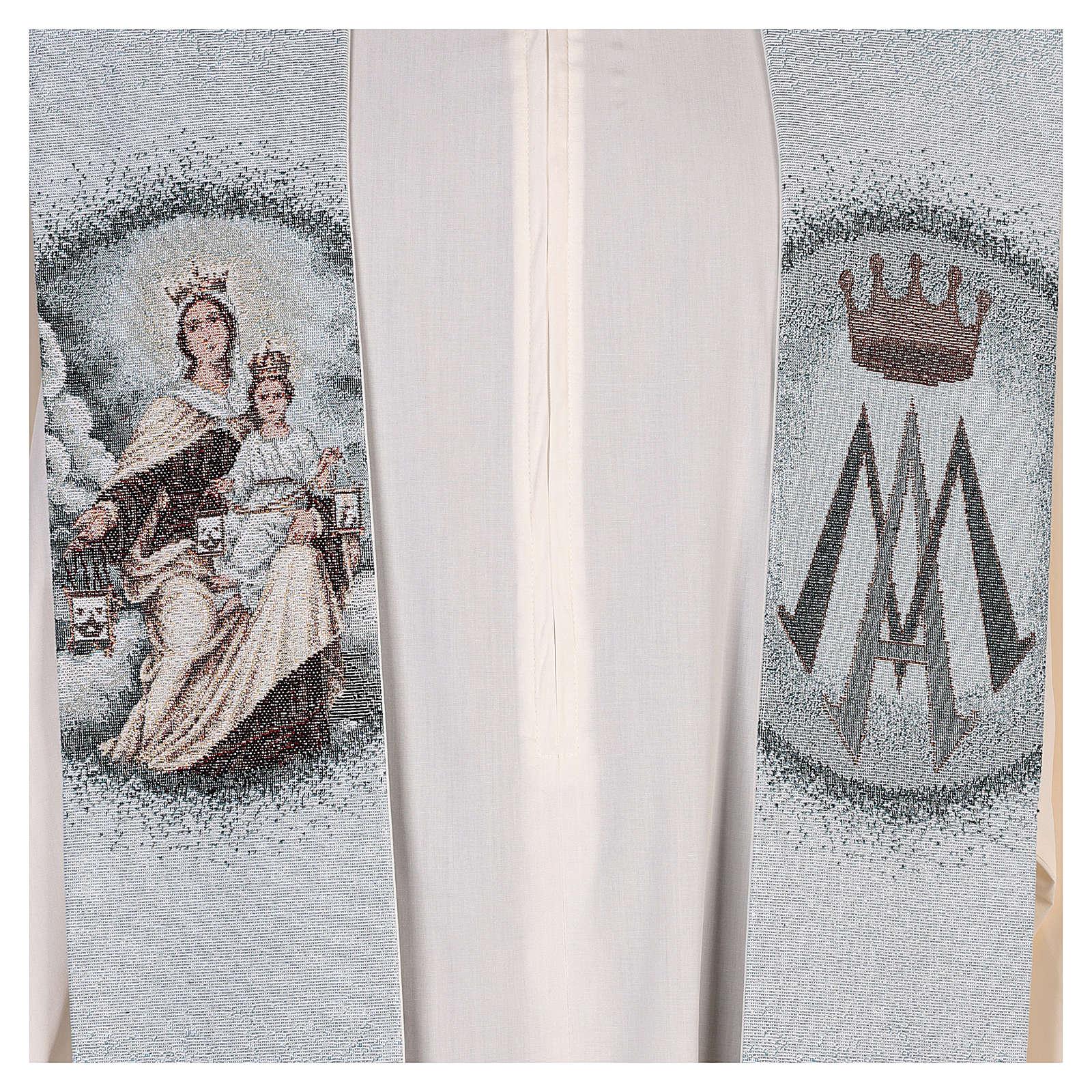 Estola Virgen del Carmen fondo azul 4
