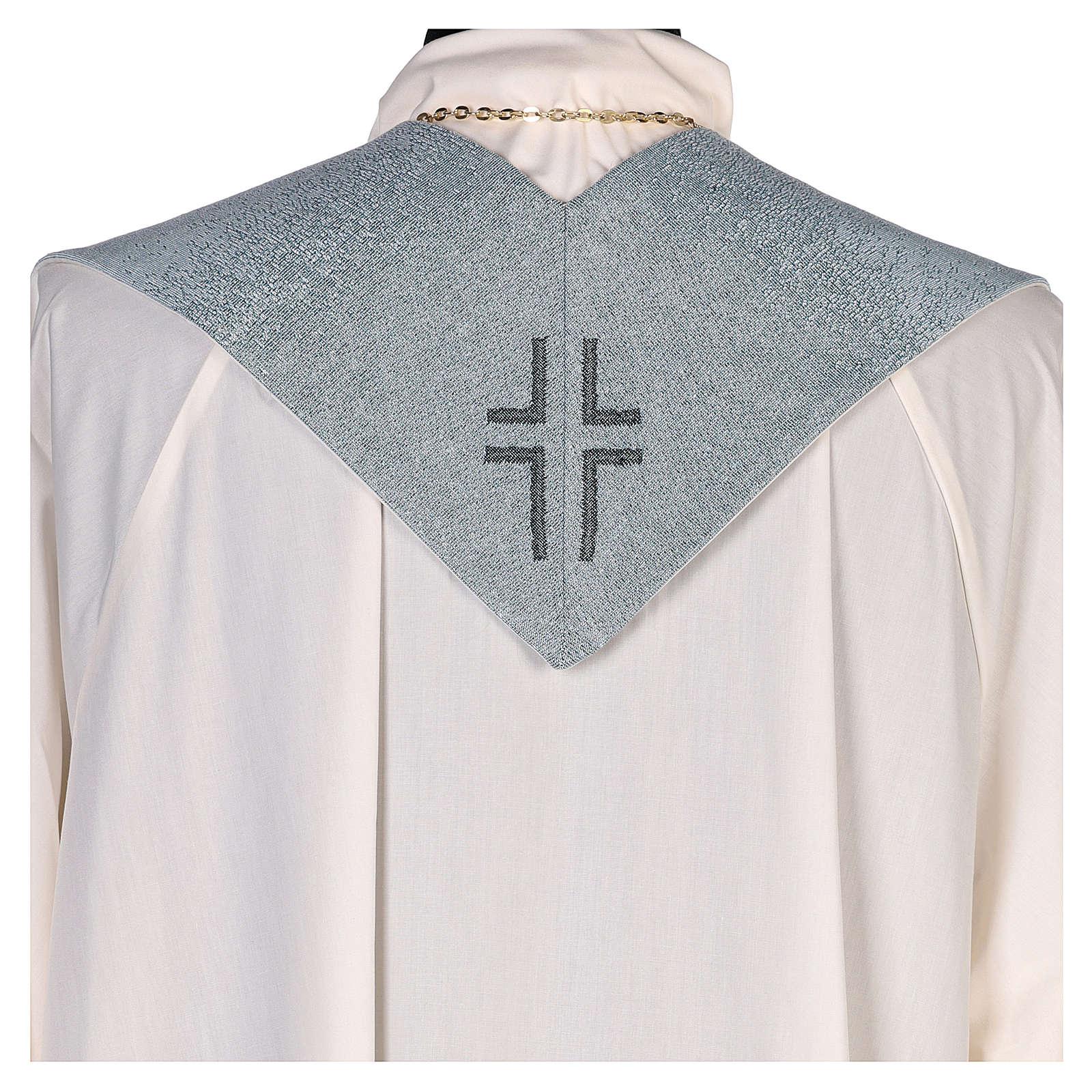 Étole Notre-Dame du Mont-Carmel fond bleu clair 4