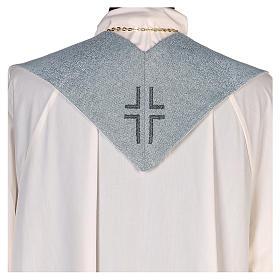 Étole Notre-Dame du Mont-Carmel fond bleu clair s3