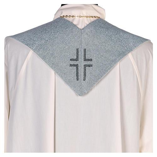 Étole Notre-Dame du Mont-Carmel fond bleu clair 3