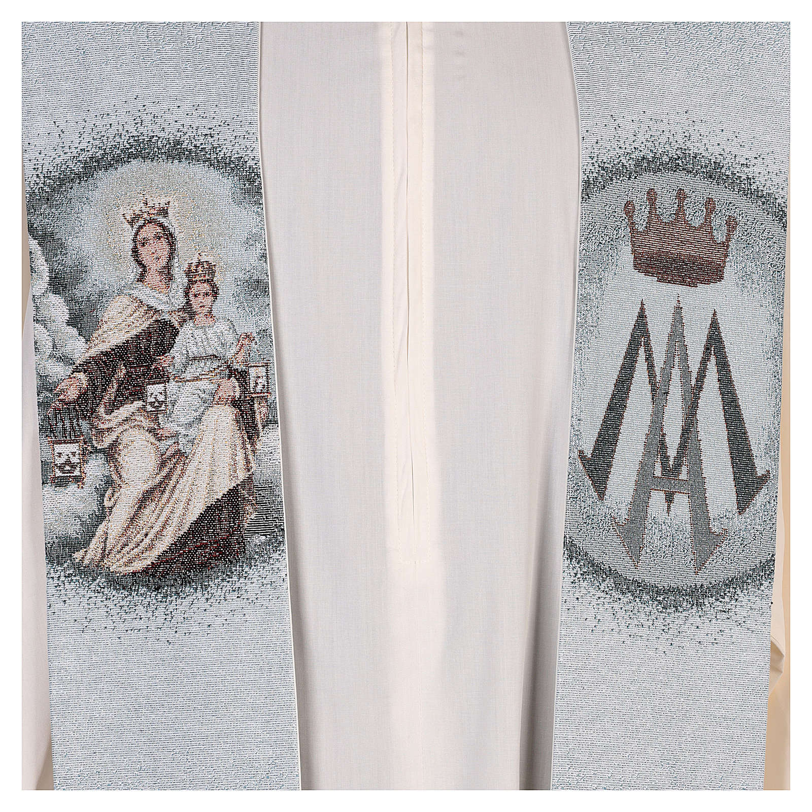 Stola Madonna del Carmelo fondo azzurro 4