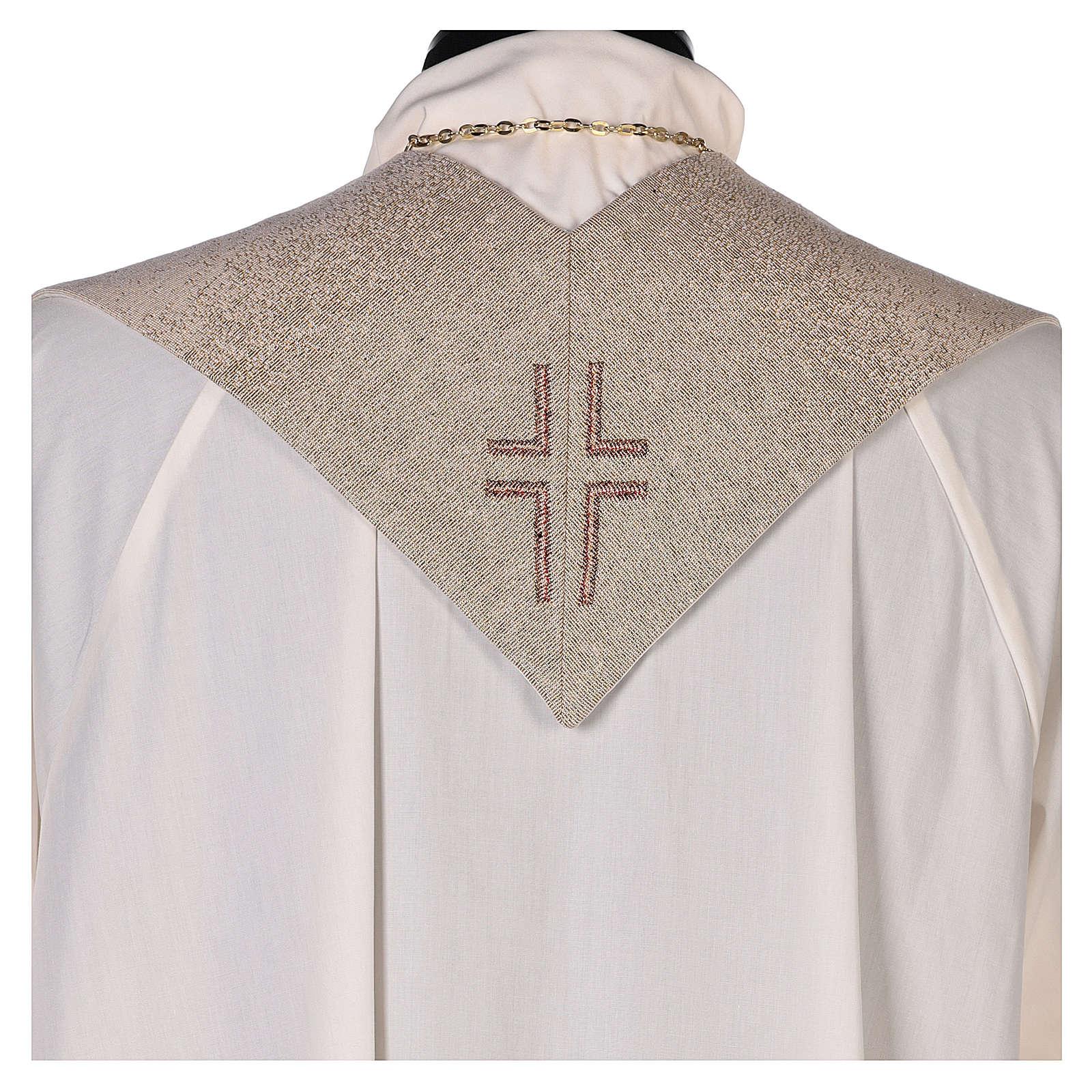 Étole Notre Dame du Bon Conseil symbole marial couleur ivoire 4