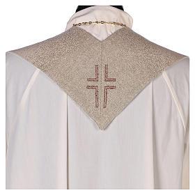 Étole Notre Dame du Bon Conseil symbole marial couleur ivoire s3