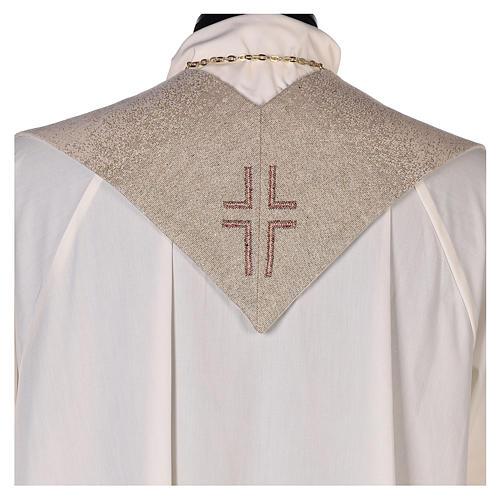 Étole Notre Dame du Bon Conseil symbole marial couleur ivoire 3