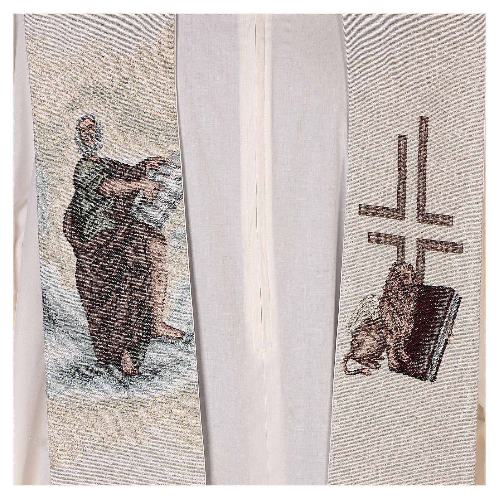 Stola San Marco Evangelista con leone alato avorio 4