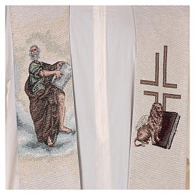 Stola San Marco Evangelista con leone alato avorio s2