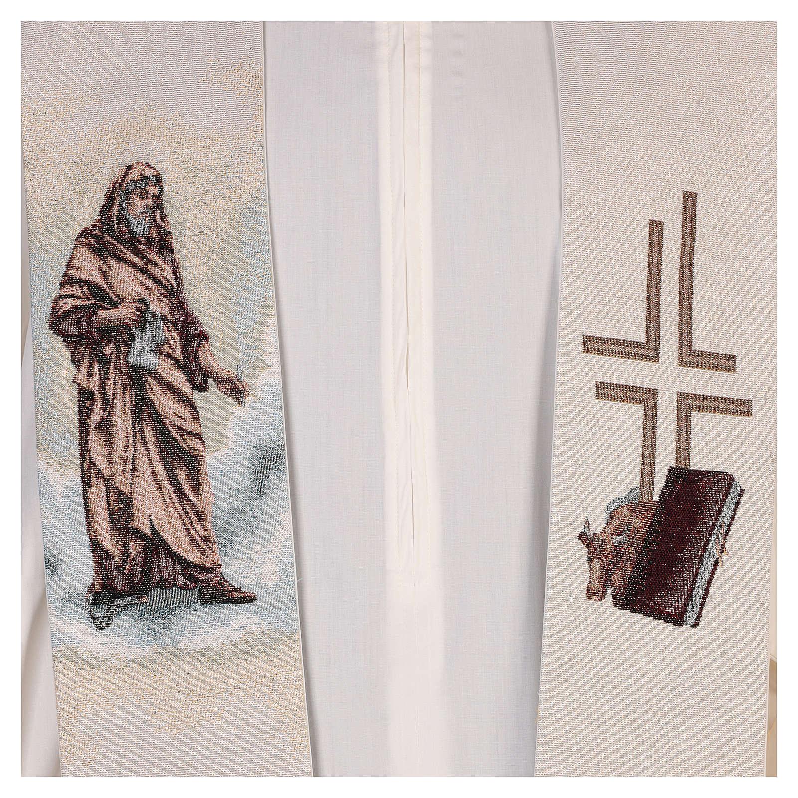 Estola San Lucas Evangelista color marfil 4