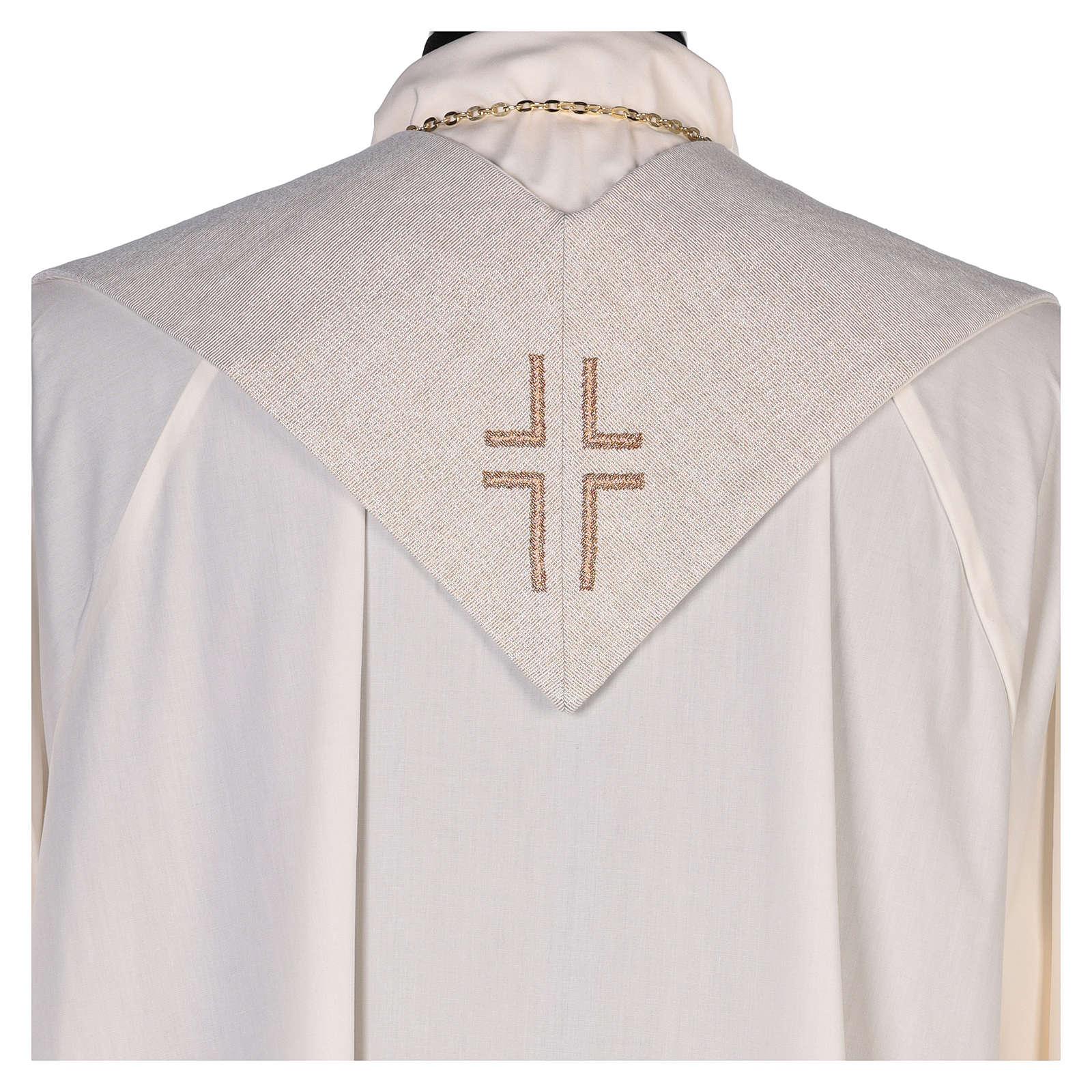 Étole Saint Luc Évangéliste couleur ivoire 4