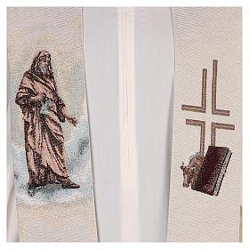 Étole Saint Luc Évangéliste couleur ivoire s2