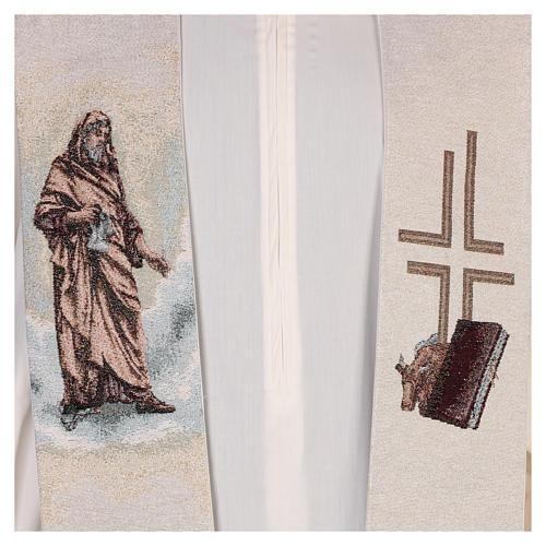 Étole Saint Luc Évangéliste couleur ivoire 2