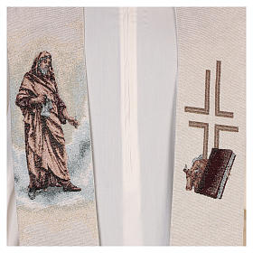 Stola San Luca Evangelista color avorio s2