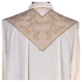 Étole lamé Anges adoration ostensoir agneau couleur ivoire s3