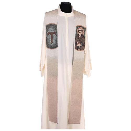 Stole St Francis of Assisi ivory 1