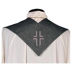 Étole Christ Miséricordieux fond vert fil doré s3