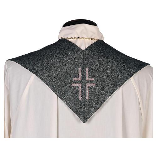 Étole Christ Miséricordieux fond vert fil doré 3