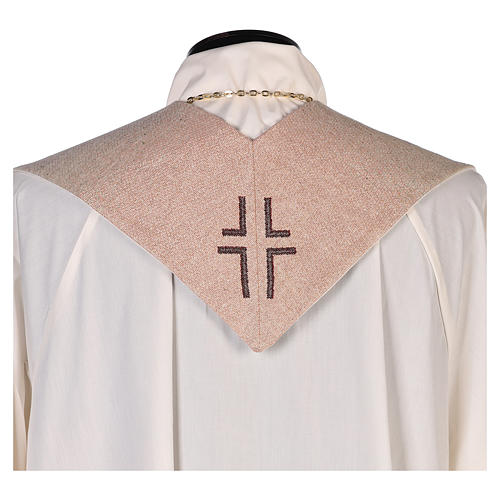 Étole Vierge de Tendresse et symbole marial couleur ivoire 3