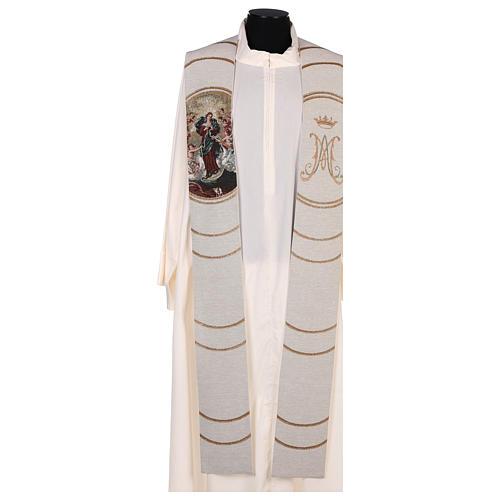 Étole lamé Marie qui défait les noeuds couleur ivoire 1