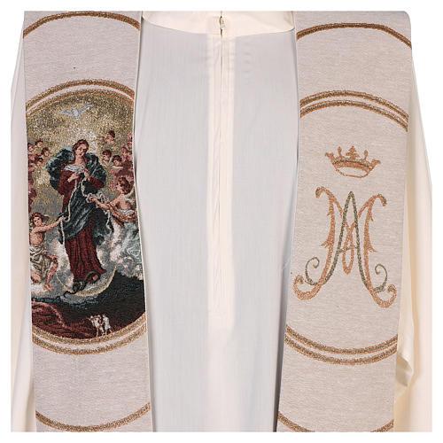 Étole lamé Marie qui défait les noeuds couleur ivoire 2