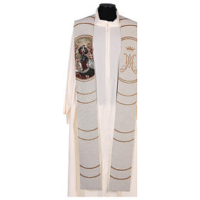Stola lamé Madonna dei Nodi avorio s1