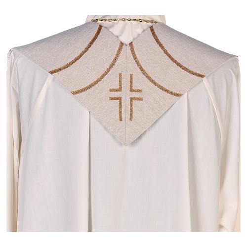 Stola lamé Madonna dei Nodi avorio 3