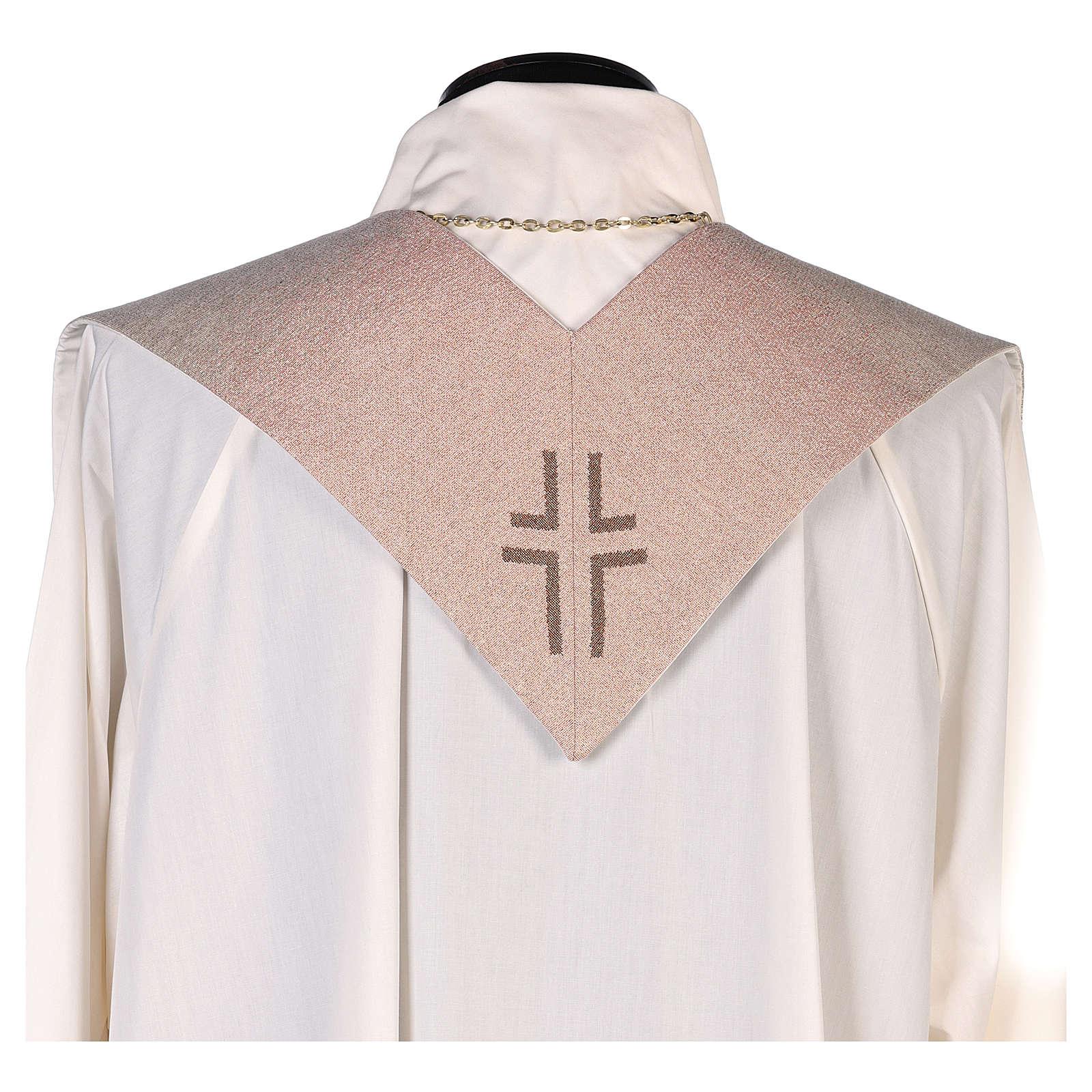 Stola con ricamo Gesù e i pargoli avorio 4