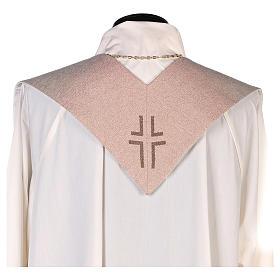 Stola con ricamo Gesù e i pargoli avorio s3