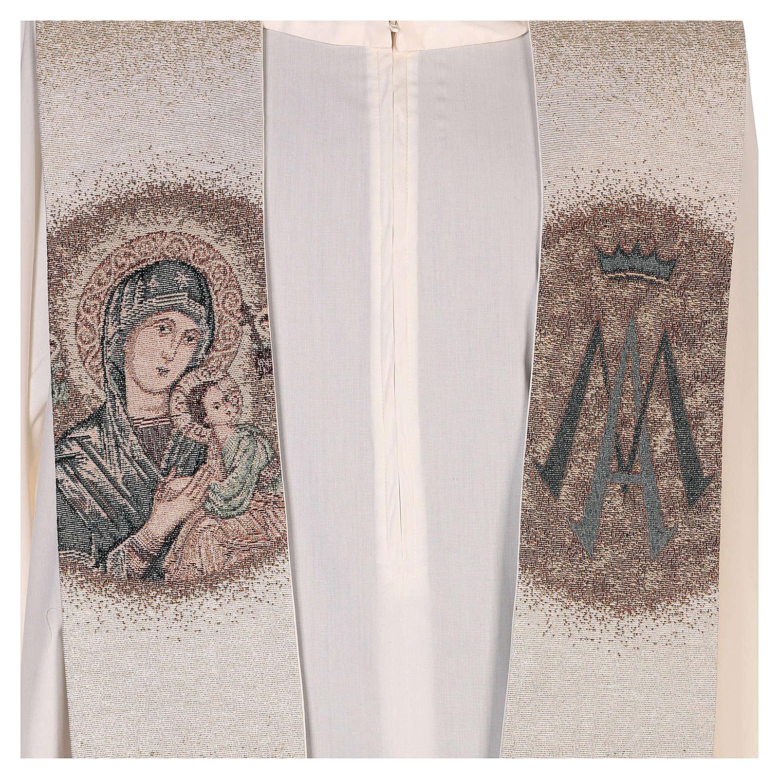 Estola Virgen Perpetuo Socorro símbolo mariano beis 4