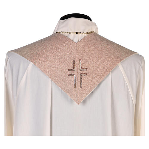 Estola Virgen Perpetuo Socorro símbolo mariano beis 3