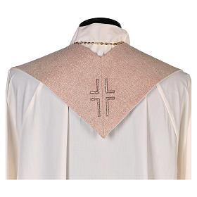 Étole Notre-Dame du Perpétuel Secours symbole marial beige s3