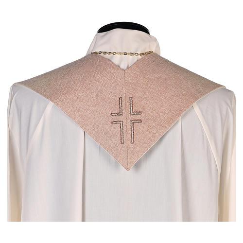Étole Notre-Dame du Perpétuel Secours symbole marial beige 3