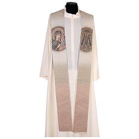 Stola Madonna Perpetuo Soccorso simbolo mariano beige s1
