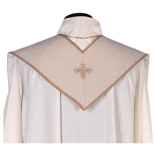 Estola bordada símbolos de la boda marfil 3
