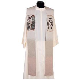 Estola escena Anunciación y símbolo mariano marfil s1