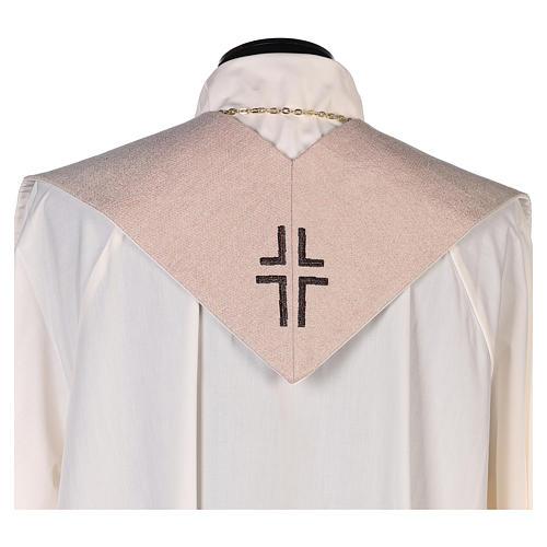 Estola escena Anunciación y símbolo mariano marfil 3
